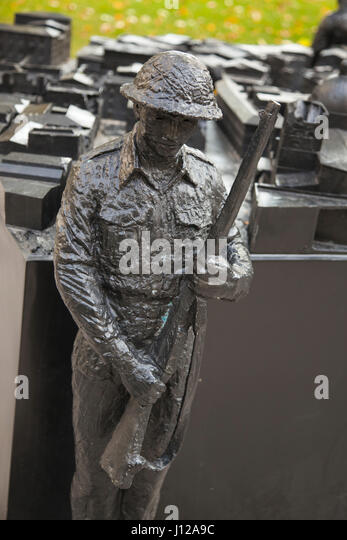 Toronto, City Hall, Commemorates, Canadian, Soldiers, Italian, Campaign, war, - Stock Image