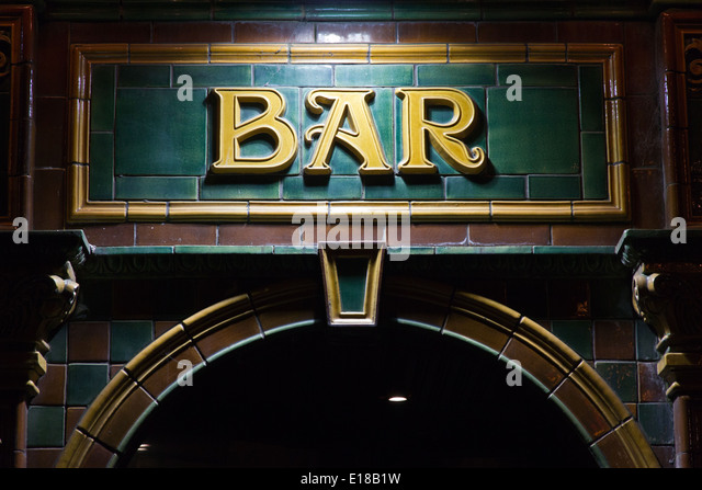 Bar sign - Stock Image