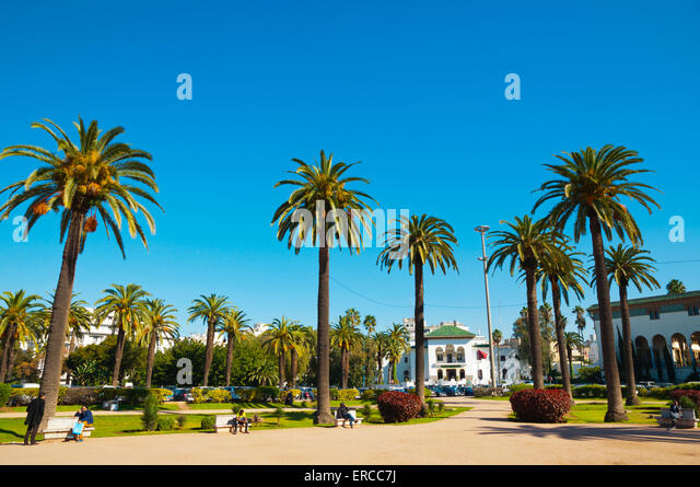 Place Mohammed V, Ville Nouvelle, Casablanca, Atlantic coast, Morocco, northern Africa - Stock Image