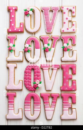 Valentine cookies - Stock Image