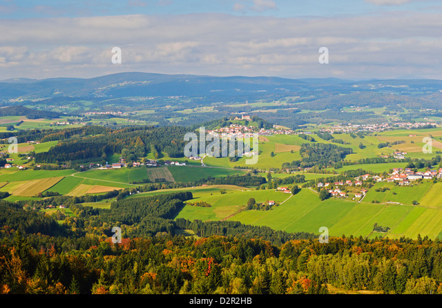 View from Oberfrauenwald of Bavarian Forest, Bavaria, Germany, Europe - Stock-Bilder