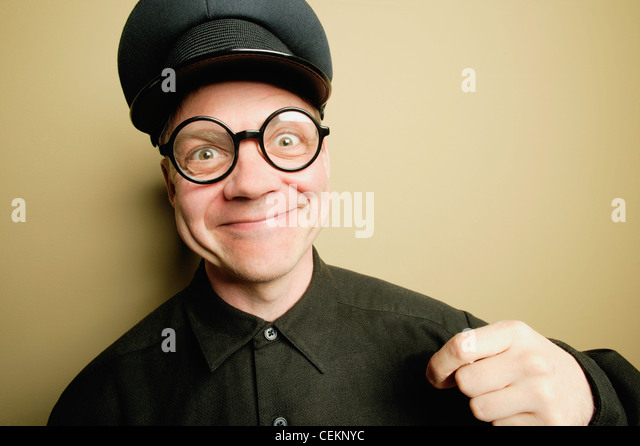 Man With A Smirk - Stock Image