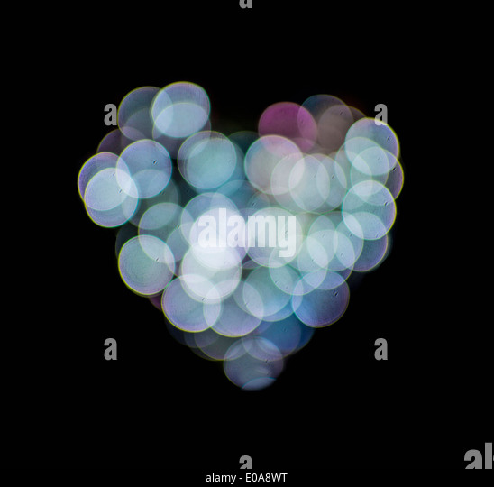 Valentines abstract heart-shaped lights - Stock Image