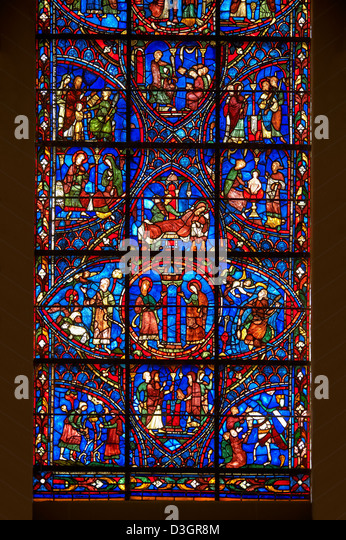 Chartres Stained Glass Stock Photos & Chartres Stained ...