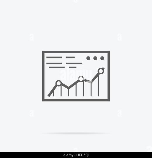 Analysis Stock Exchange Rates on Monitors. Analysis concept in flat style. Price movement. Stock exchange rates - Stock-Bilder