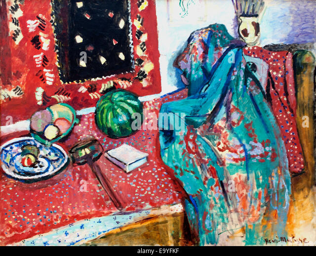 Les Tapis Rouge - The Red Carpet 1906 by Henri Matisse (1869-1954) France French - Stock Image