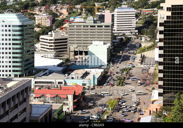 downtown Port Moresby, Capitol of Papua New Guinea - Stock Image