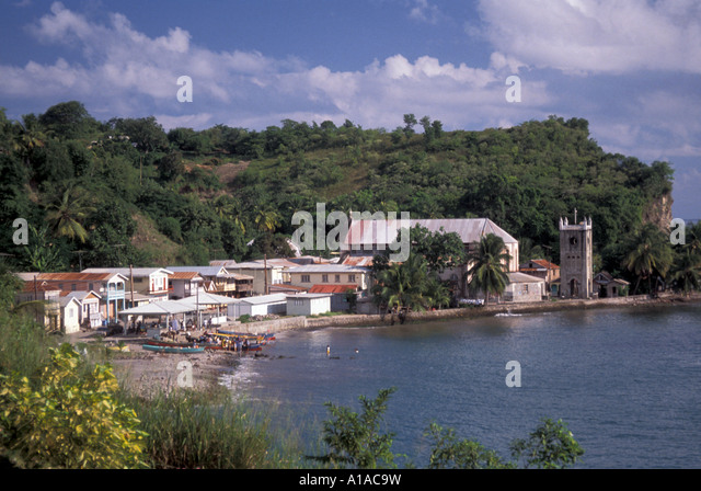 St Lucia fishing town Choiseul - Stock Image