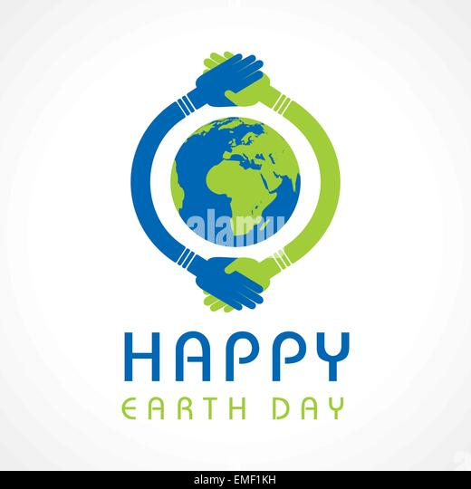 Creative Happy Earth Day Greeting stock vector - Stock-Bilder