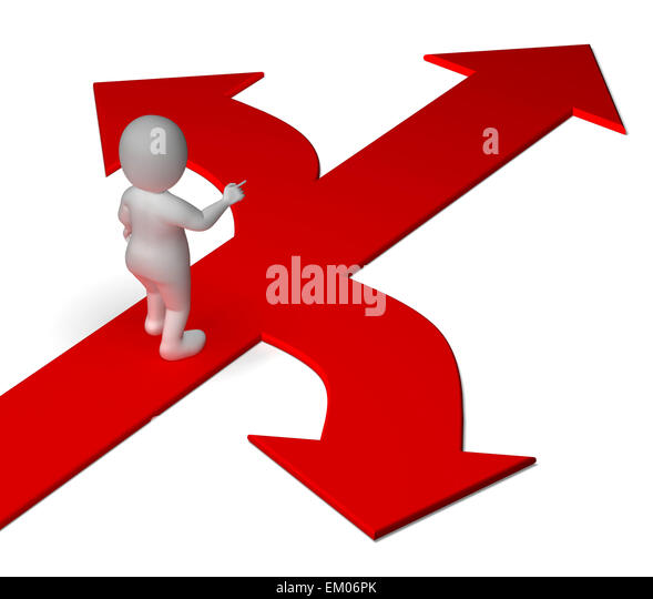 Arrows Choice Showing Options Alternatives Or Deciding - Stock Image