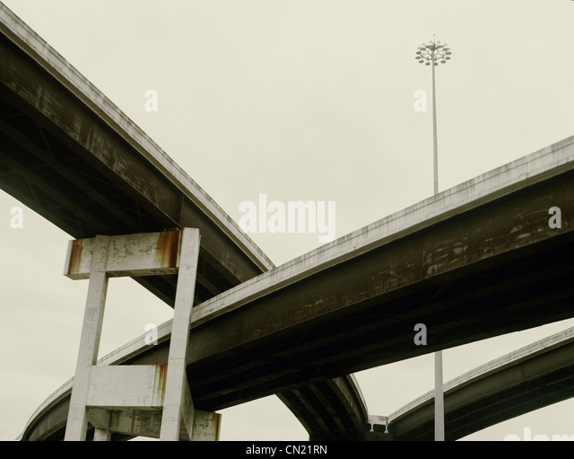 Overpass, Los Angeles, California, USA - Stock-Bilder