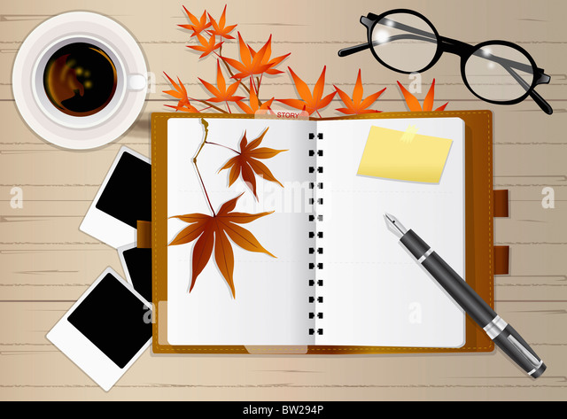 autumn air in illustraion - Stock Image