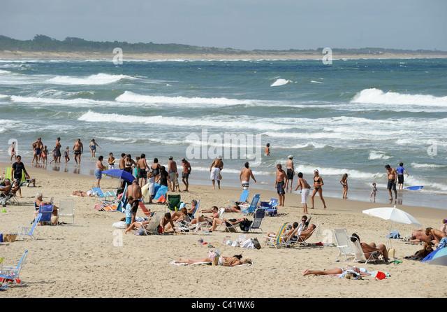 URUGUAY beach at atlantic ocean - Stock Image