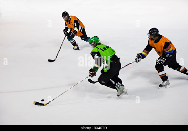 Ice hockey Palau de Gel Canillo Andorra - Stock Image