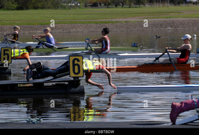 Competitive rowing and sculling event. - Stock Image