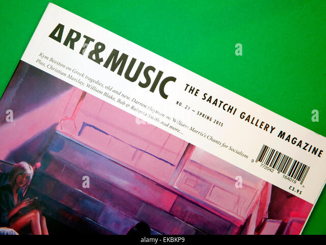 The Saatchi Gallery 'Art & Music' magazine. London - Stock Image