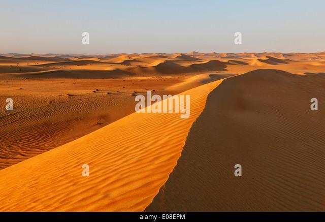 Sand dune landscape in Arabian desert. - Stock Image