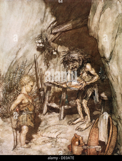 'Mime and the infant', 1924.  Artist: Arthur Rackham - Stock Image