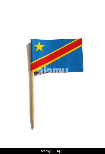 toothpick with the flag of the  Democratic Republic of the Congo - Stock-Bilder