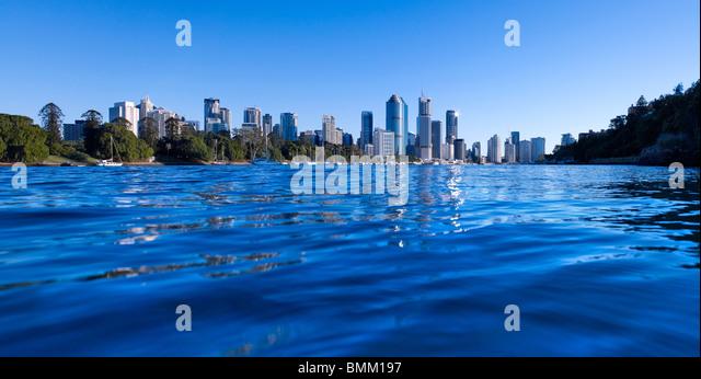 Brisbane panoramic cityscape - Stock Image