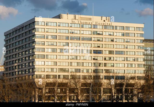 St. Thomas Hospital, London England United Kingdom UK - Stock Image