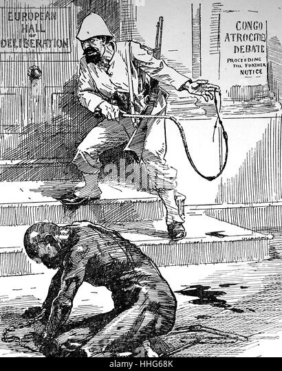 SLAVERY IN THE CONGO - Stock-Bilder