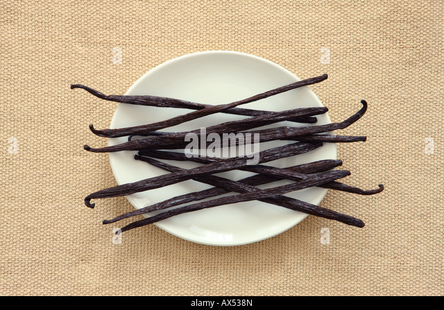 Natural Vanilla Beans - Stock Image