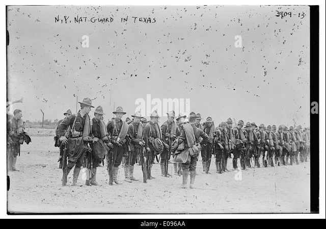 N.Y. National Guard in Texas (LOC) - Stock Image