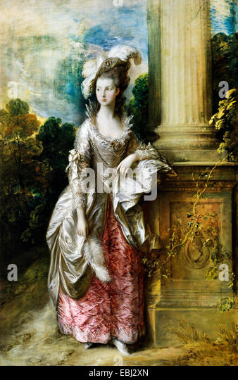 Thomas Gainsborough, The Honourable Mrs Graham 1775 Oil on canvas. Scottish National Gallery, Edinburgh, Scotland. - Stock Image