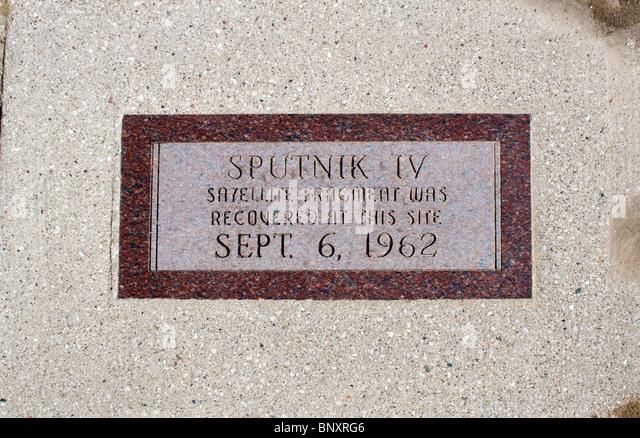 Sputnik Crash Site in Manitowoc Wisconsin - Stock Image