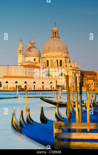 Santa Maria della Salute Church across Basino di San Marco, Venice, UNESCO World Heritage Site, Veneto, Italy, Europe - Stock Image