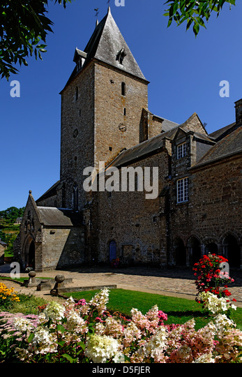 11th century Lonlay l'Abbaye, Orne, Normandy, France - Stock Image