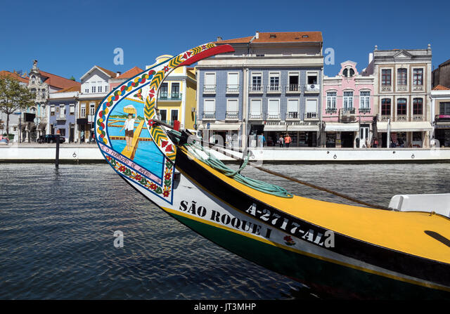 Aveiro, known as the Venice of Portugal, is a popular tourist destination in the Centro region of Portugal. - Stock Image
