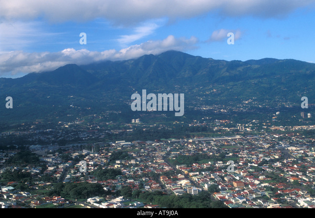 san jose costa rica aerial early morning - Stock Image