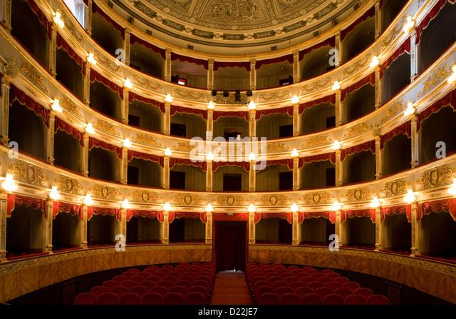 Noto: theatre of Vittorio Emanuele interior - Stock Image