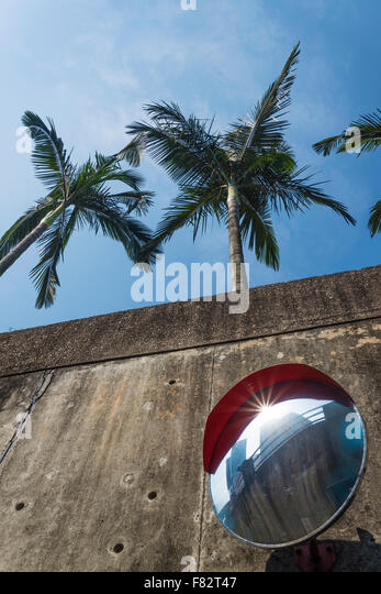 modern urban architecture abstract detail in macau china - Stock Image