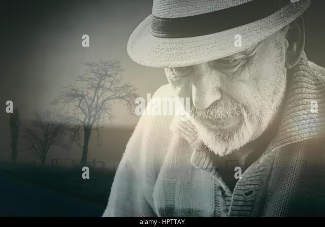 Old senior man - Stock Image
