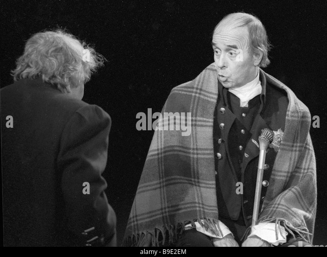 The USSR People s Artist Oleg Borisov right in the title role in the Central Academic Soviet Army Theater s performance - Stock Image