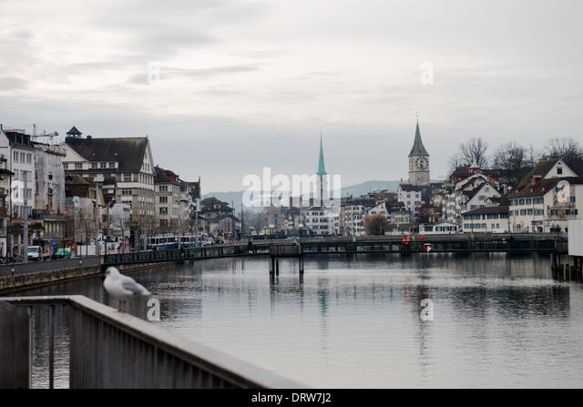 Swiss City of Zurich, Switzerland  -1 - Stock Image