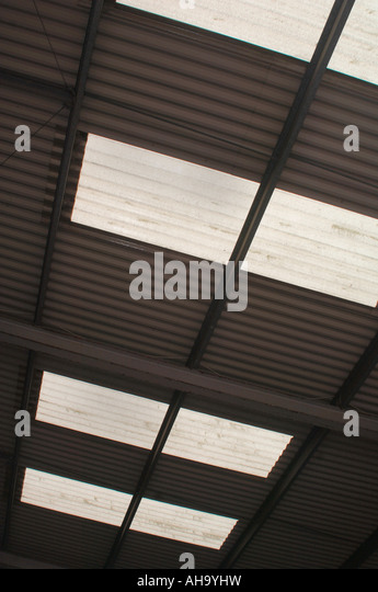 Corrugated Roofing - Stock Image