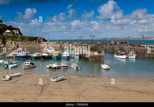 Newquay Harbour; Cornwall; UK - Stock Image