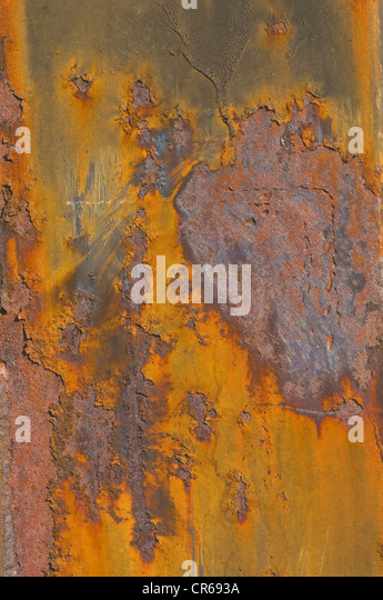 Corroded metal plate - Stock Image