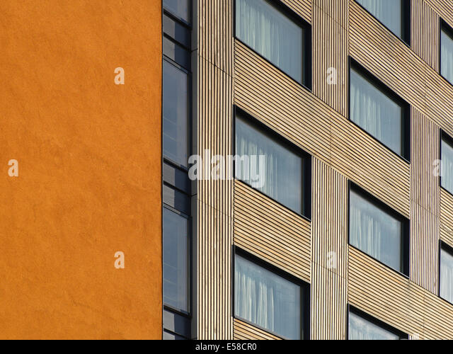 Window exterior, Bermondsey Square, London SE1. Mixed used residential, offices, hotel, cinema and restaurants, - Stock Image