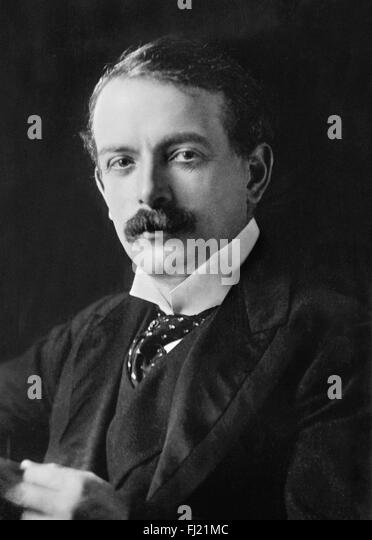 David Lloyd George, liberal politician who was British Prime Minister during and immediately after the First World - Stock Image