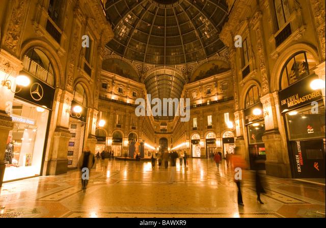 Galleria Vittorio Emanuele II Milan - Stock Image