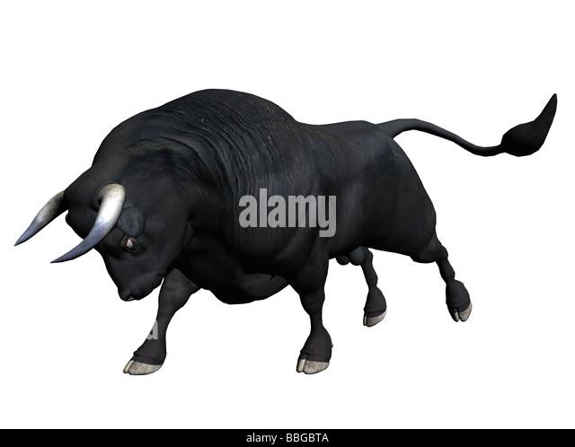 3D Illustration of a bull - Stock Image