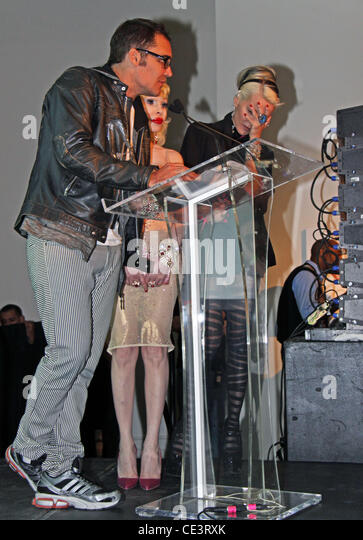 David LaChapelle, Amanda Lepore and Daphne Guinness 9th Annual Glaad OUT Auction, held at Metropolitan Pavillion - Stock Image
