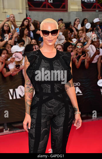 Toronto, Ontario, Canada. 19th June, 2016. AMBER ROSE arrives at the 2016 iHeartRADIO MuchMusic Video Awards at - Stock Image