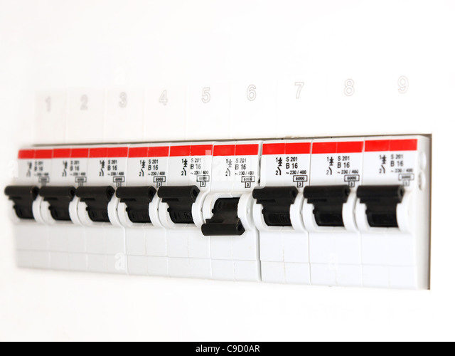 fuse box - Stock Image