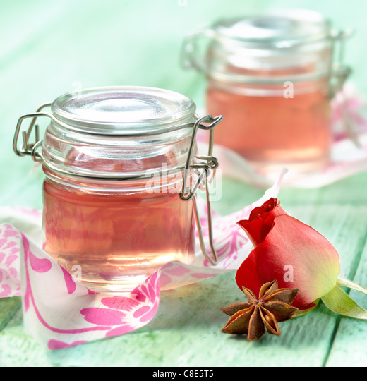 Rose and star anise-flavored jelly - Stock-Bilder